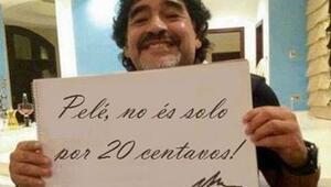 Pele ile Maradona yine kapıştı