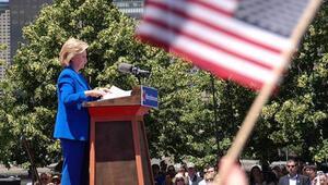 Başkanlık için Demokratların aday adayı Clinton ilk mitingini New Yorkta yaptı