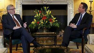 Cameron ile Juncker bir araya geldi