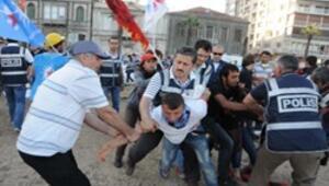 İzmirdeki çadırlara şafak baskını