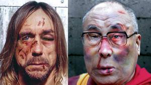 Iggy Pop ve Dalai Lamayı dövdüler