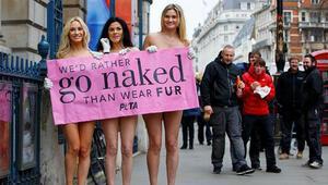 PETA aktivistleri, Londrada vahşete dur dedi