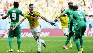 Kolombiya 2 - 1 Fildişi Sahili