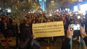 İstanbulda zeytin dallı protesto