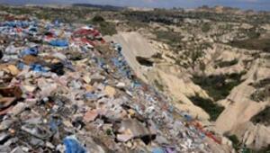 Kapadokyada çöp vadisi