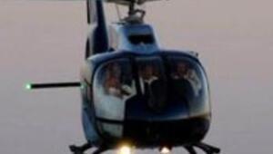 Nikaha helikopterle geldiler