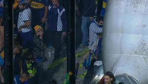 Kaynak makinesiyle tünel delip futbolculara gaz bombası attılar