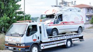 Ambulans şoförü ambulans kurbanı