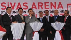 Sivas Arenada temel atma heyecanı