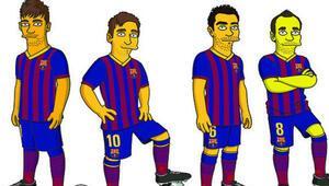 Barcelona da Simpsonlara girdi