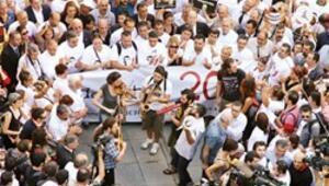 Adaletin 200'üne büyük protesto
