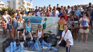 Datçada izmaritsiz sahil kampanyası