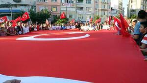 Burhaniye'de terör protestosu