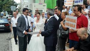 Düğün salonu işletmecilerinden telif hakkı protestosu