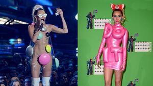 Mileynin garip MTV giysileri
