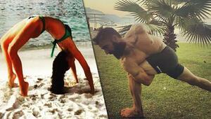 Harun Tan ve Ebru Şallının spor aşkı