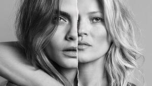 Dünyanın en güzel kadınlarıKate Moss ve Cara Delevingne
