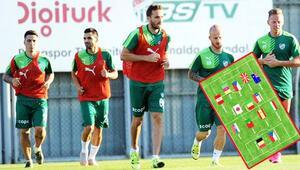 Bursasporda 5 kıtadan 13 farklı ülkeden oyuncu var