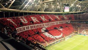 Galatasaray taraftarından çok özel koreografi