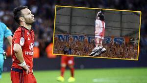 Marsilya taraftarı Valbuenanın maketini astı