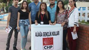 CHP'li gençler alanlarda oy istiyor