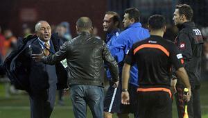 Trabzonspor-Gaziantepspor maçının hakemleri 4 saat statta mahsur kaldı