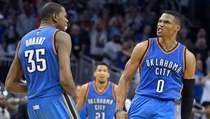 Oklahomada Westbrook-Durant ikilisi 91 sayı attı