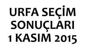 Urfa seçim sonuçları 1 Kasım 2015 (Şanlıurfa milletvekili listeleri)