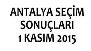 Antalya seçim sonuçları 1 Kasım 2015 (milletvekili listeleri)