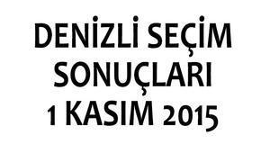 Denizli seçim sonuçları 1 Kasım 2015 (milletvekili listeleri)