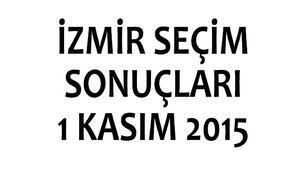 İzmir seçim sonuçları 1 Kasım 2015 (1. Bölge, 2. Bölge milletvekili listeleri)