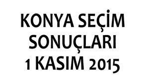 Konya seçim sonuçları 1 Kasım 2015 (milletvekili listeleri)