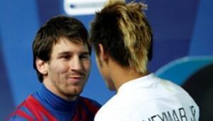 İki yıldız bir arada: Messi - Neymar
