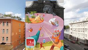 Moskova'nın devlet onaylı mural'leri