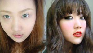 Makyaj icat oldu Çinli kadınlar bozuldu