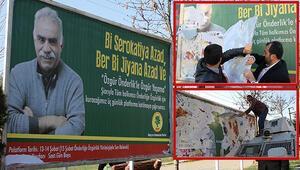 Abdullah Öcalan afişleri söküldü