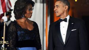 Obamanın Hollande onuruna verdiği yemeğin yıldızı Michelle oldu