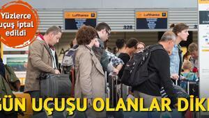 Lufthansa 929 uçuşu iptal etti