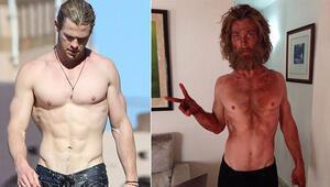 Chris Hemsworth tanınmayacak hale geldi