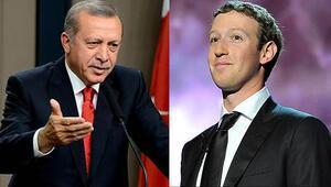 Cumhurbaşkanı Erdoğandan Zuckerberg mesajı