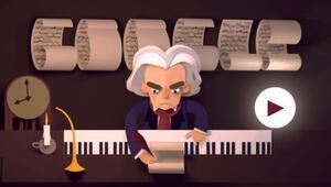 Google'dan Ludwig van Beethoven için eğlenceli doodle