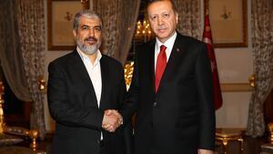 Cumhurbaşkanı Erdoğan, Halid Meşalle görüştü