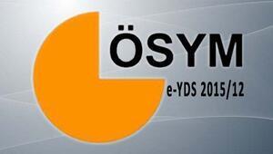 2015 Elektronik Yabancı Dil Sınavı (e-YDS 2015/12) Sonuçları Açıklandı