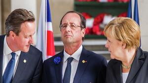 Merkel ve Hollande'dan Cameron'a zeytin dalı