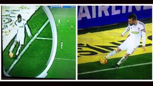 Fenerbahçe-Sivasspor maçında olay yaratan pozisyon