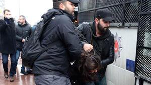 Basın açıklamasının ardından 7 gözaltı