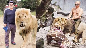 Gani Müjde Putin'in aslanıyla poz verdi