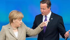 Cameron, Merkelden destek istiyor