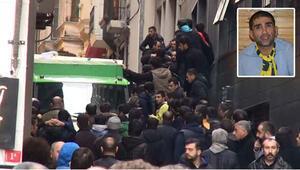 Sefa Kalyanın cenazesi otelden alınırken olay çıktı