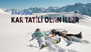 20 Ocakta Kar Tatili Olan İller Hangileri